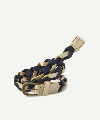 All Collection radius - NAVY BLUE AND GOLD PLAITED BELT