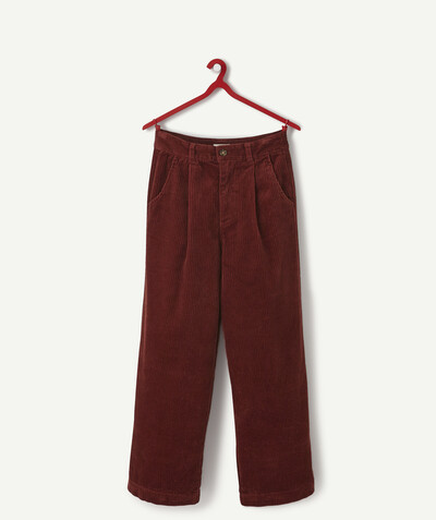 Outlet radius - LARGE BURGUNDY TROUSERS IN CORDUROY