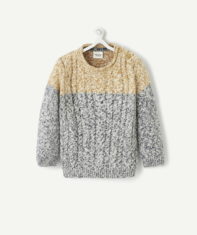 All collection radius - TWO-TONE SPECKLED KNIT JUMPER