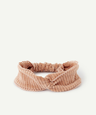 Baby-girl radius - HAIRBAND IN PINK VELVET