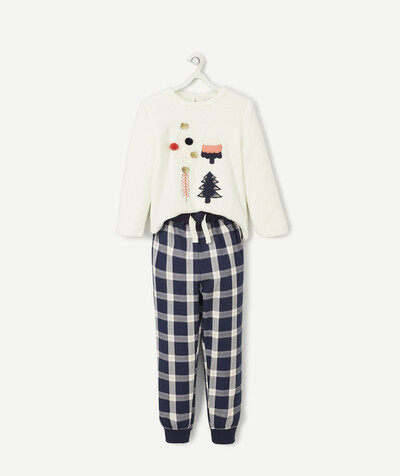 All Collection radius - FLUFFY WHITE PYJAMAS WITH SPARKLING PINE TREES