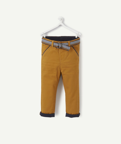 All collection radius - CAMEL BELTED CHINO TROUSERS