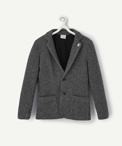 Outlet radius - GREY JACKET IN TWO-TONE COTTON
