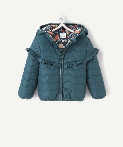 Coat - Padded jacket - Jacket radius - DARK GREEN REVERSIBLE AND WATERPROOF PADDED JACKET