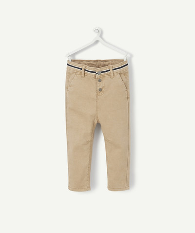 All collection radius - BEIGE TROUSERS IN COTTON PIQUE