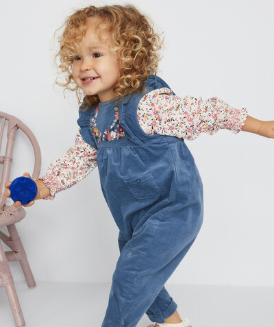 Jumpsuits - Dungarees radius - BLUE DUNGAREES WITH FRILLS