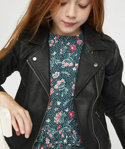 All Collection radius - BLACK BIKER-STYLE JACKET
