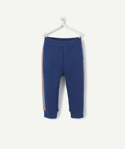 All collection radius - BLUE JOGGING PANTS WITH DECORATIVE BANDS