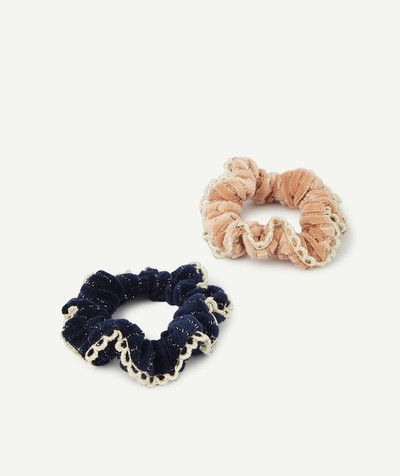 Baby-girl radius - TWO VELVET HAIR SCRUNCHIES