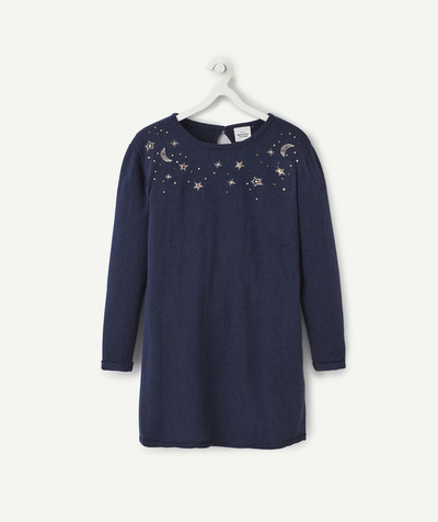 Knitwear radius - BLUE STARRY DRESS