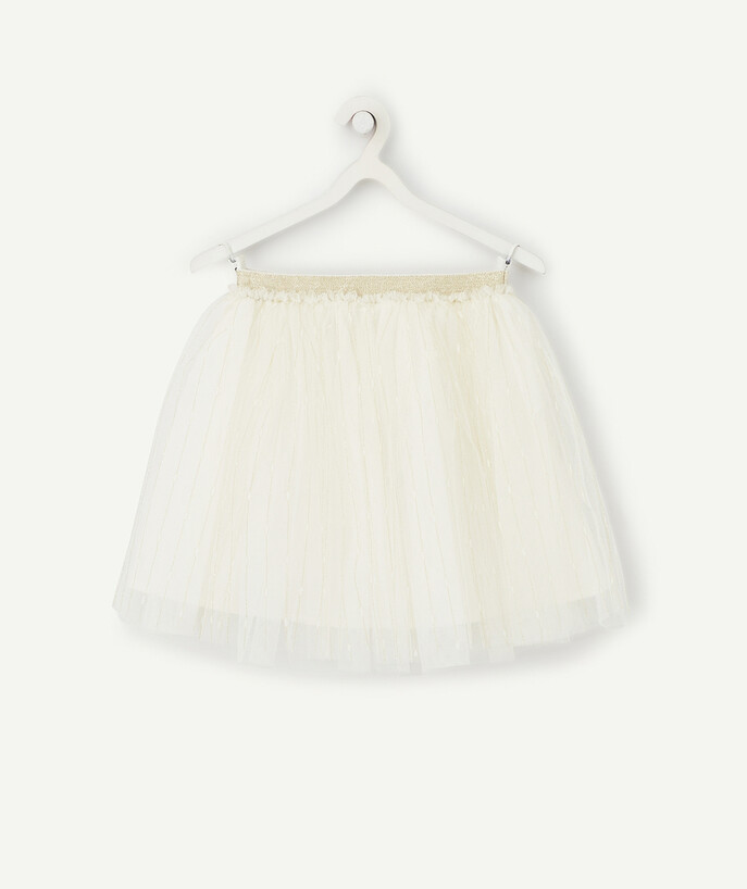 Outlet radius - CREAM AND GOLD TUTU SKIRT