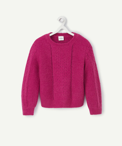 Pull - Gilet Rayon - LE PULL EN TRICOT FUCHSIA