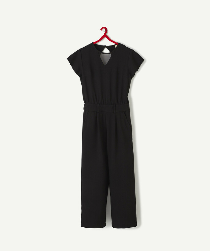 Outlet radius - BLACK CR�PE JUMPSUIT