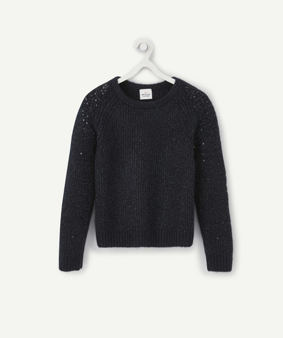 Knitwear radius - NAVY BLUE SHINY KNITTED JUMPER
