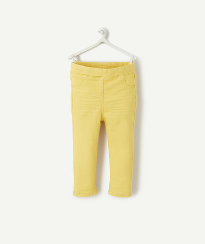 Pantalon Rayon - LE TREGGING STRETCH JAUNE