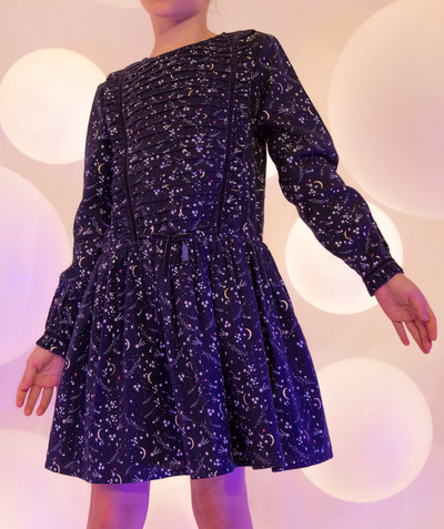 All Collection radius - MIDNIGHT BLUE DRESS WITH PRINTED STARS