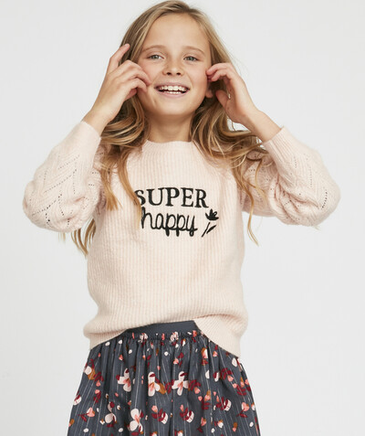Toute la collection Rayon - LE PULL EN TRICOT BRILLANT ROSE PÂLE