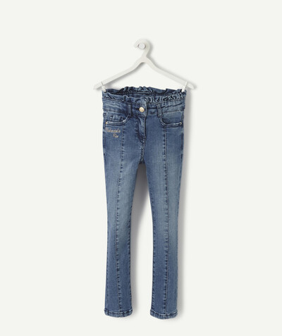 Collection ECODESIGN Rayon - LE JEAN SKINNY FRONCÉ À LA TAILLE