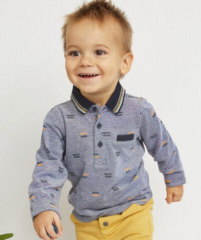 Shirt and polo radius - PIQUE POLO SHIRT, FLECKED AND PRINTED