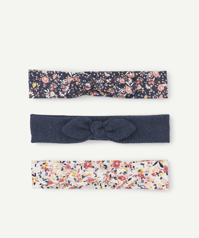 Baby-girl radius - SET OF THREE KNOTTED HEADBANDS