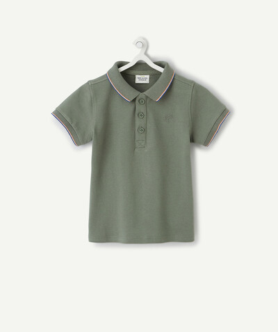 All collection radius - KHAKI POLO SHIRT IN ORGANIC COTTON