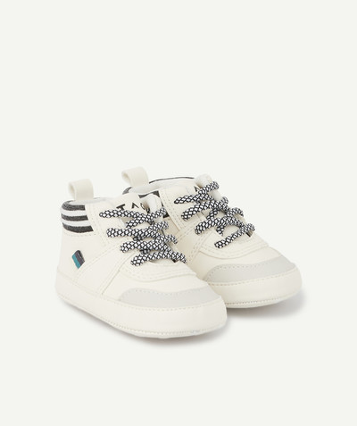 All collection radius - GREY AND WHITE TRAINER-STYLE BOOTIES