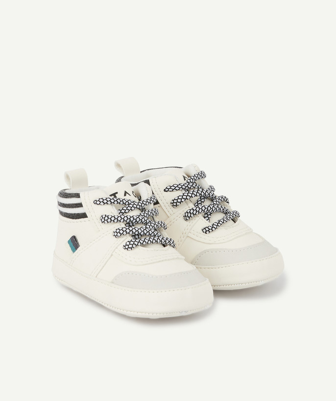 Shoes, booties radius - GREY AND WHITE TRAINER-STYLE BOOTIES