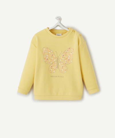 Nouvelle collection Rayon - LE SWEAT JAUNE EN COTON BIOLOGIQUE