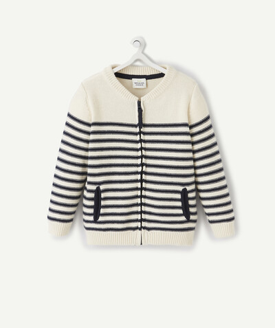 All collection radius - ZIPPED JACKET IN A STRIPED KNIT