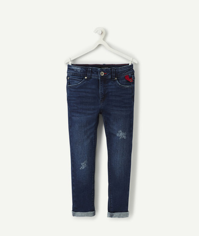 Collection ECODESIGN Rayon - LE JEAN SLIM USÉ DENIM BRUT