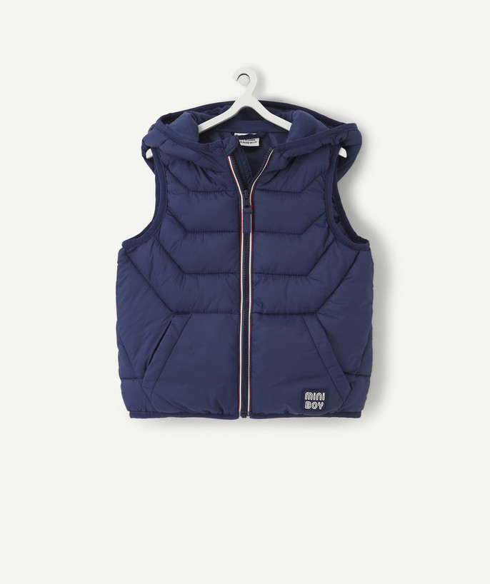 Coat - Padded Jacket - Jacket radius - SLEEVELESS BLUE PADDED JACKET