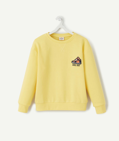 Sweat Rayon - LE SWEAT EN COTON BIOLOGIQUE JAUNE