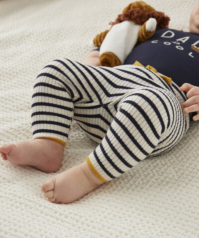 Clothing radius - STRIPED LEGGINGS IN A FINE KNIT
