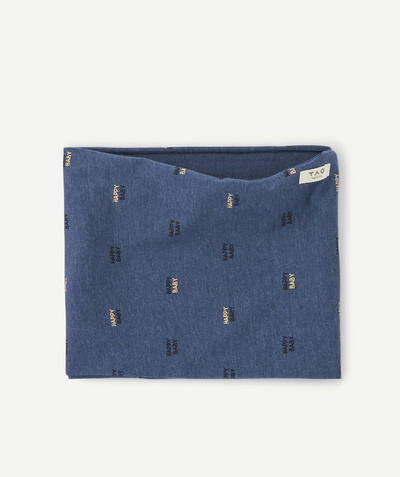 All collection radius - SNOOD IN BLUE PRINTED COTTON