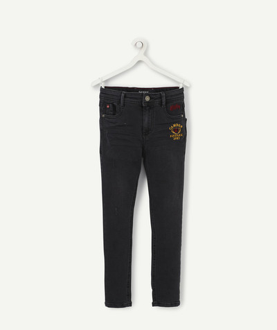 Outlet radius - BLACK SKINNY JEANS WITH AN EMBROIDERED BADGE
