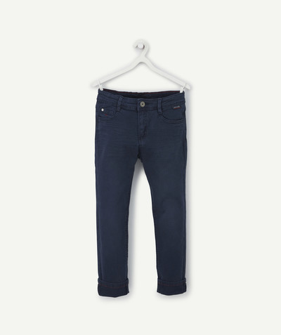 Trousers size + radius - NAVY BLUE SKINNY TROUSERS