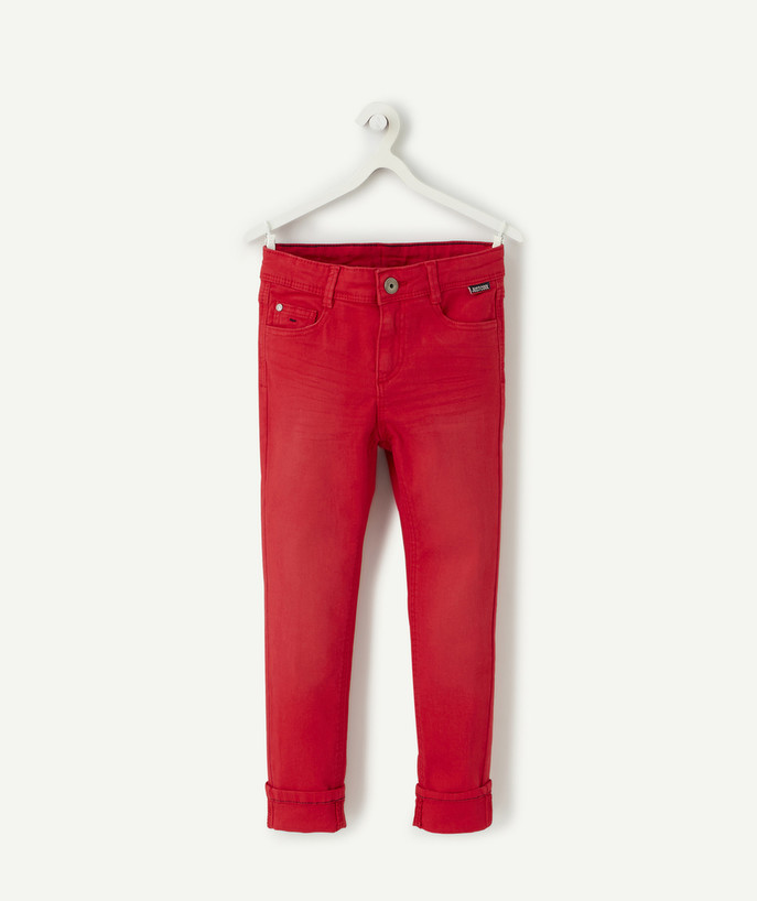 Basics radius - RED SKINNY TROUSERS