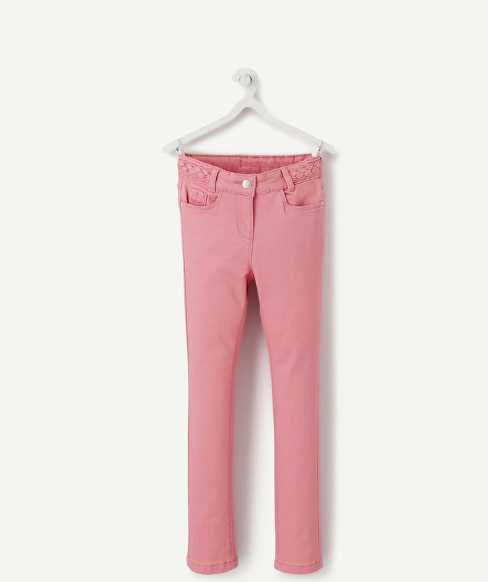 Outlet radius - SKINNY TROUSERS IN PINK CANVAS