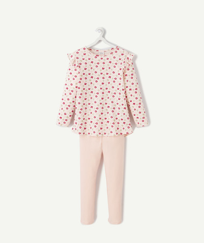 Nightwear radius - SPARKLING PINK PYJAMAS IN ORGANIC COTTON