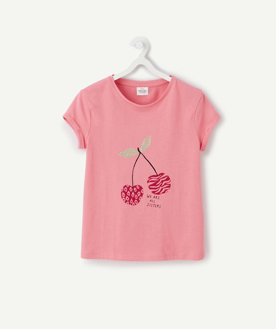 ECODESIGN radius - PINK PRINTED T-SHIRT IN ORGANIC COTTON