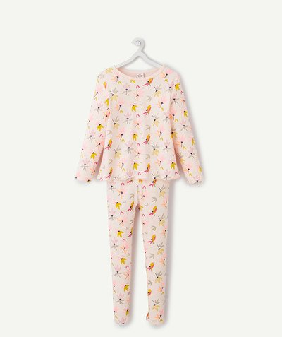 All Collection radius - PINK FLOWER-PATTERNED PYJAMAS IN ORGANIC COTTON
