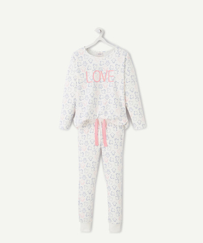 Nightwear radius - PYJAMAS WITH PRINTED MOTIFS IN ORGANIC COTTON