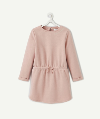 Dress radius - DRESS IN SPARKLING POWDER PINK FLEECE