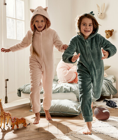 Nightwear radius - FLUFFY PINK CAT ONESIE