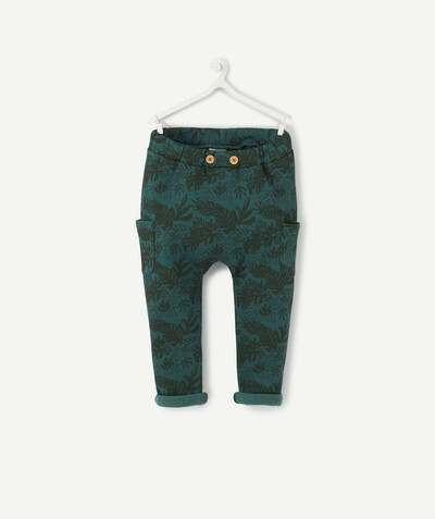 Collection ECODESIGN Rayon - LE PANTALON SAROUEL IMPRIMÉ TROPICAL EN COTON BIOLOGIQUE