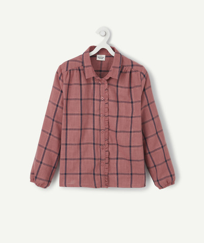 Shirt - Blouse radius - LINED PINK CHECK SHIRT