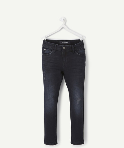 Trousers size + radius - STRAIGHT BLACK STRETCH JEANS