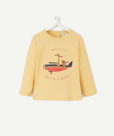 All collection radius - YELLOW T-SHIRT IN PRINTED ORGANIC COTTON