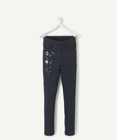 All Collection radius - NAVY BLUE TREGGINGS WITH GOLDEN STARS