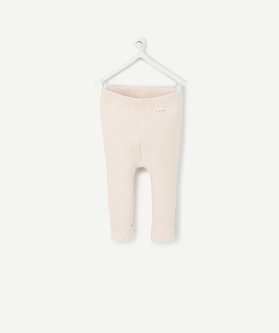 Collection ECODESIGN Rayon - LE LEGGING EN TRICOT ROSE POUDRÉ